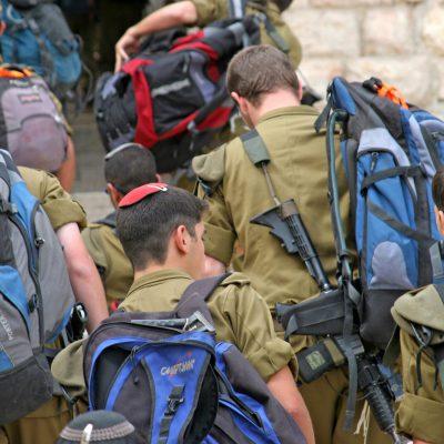חיילים ביום הגיוס
